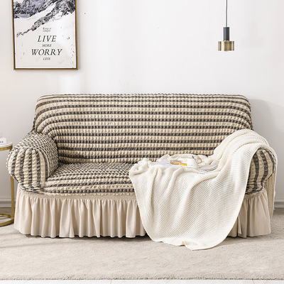 PABU Vỏ bọc Sofa Seersucker váy đa năng đàn hồi bao gồm tất cả bao gồm sofa đơn ba người sofa phong