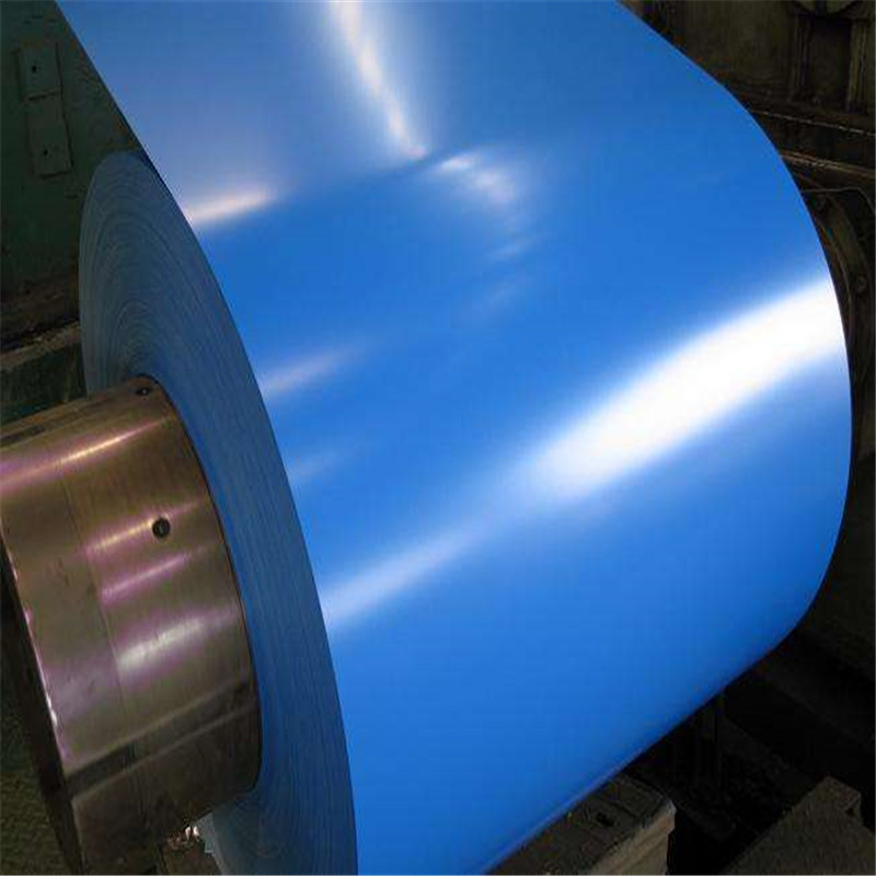 Color coated roll dx51d color coated galvanized roll 0.9 * 1250 color coated roll flattening process