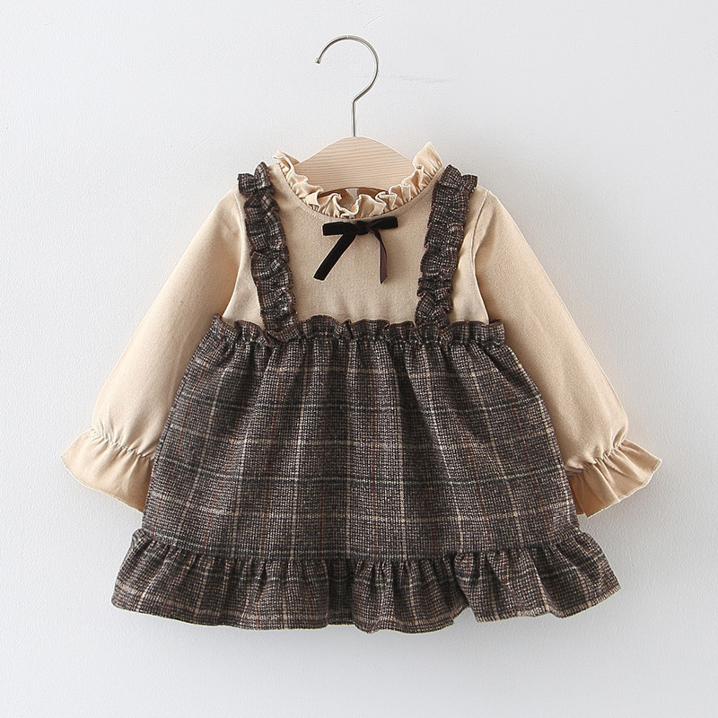 Children's dress spring and autumn foreign style baby girl princess dress baby autumn dress