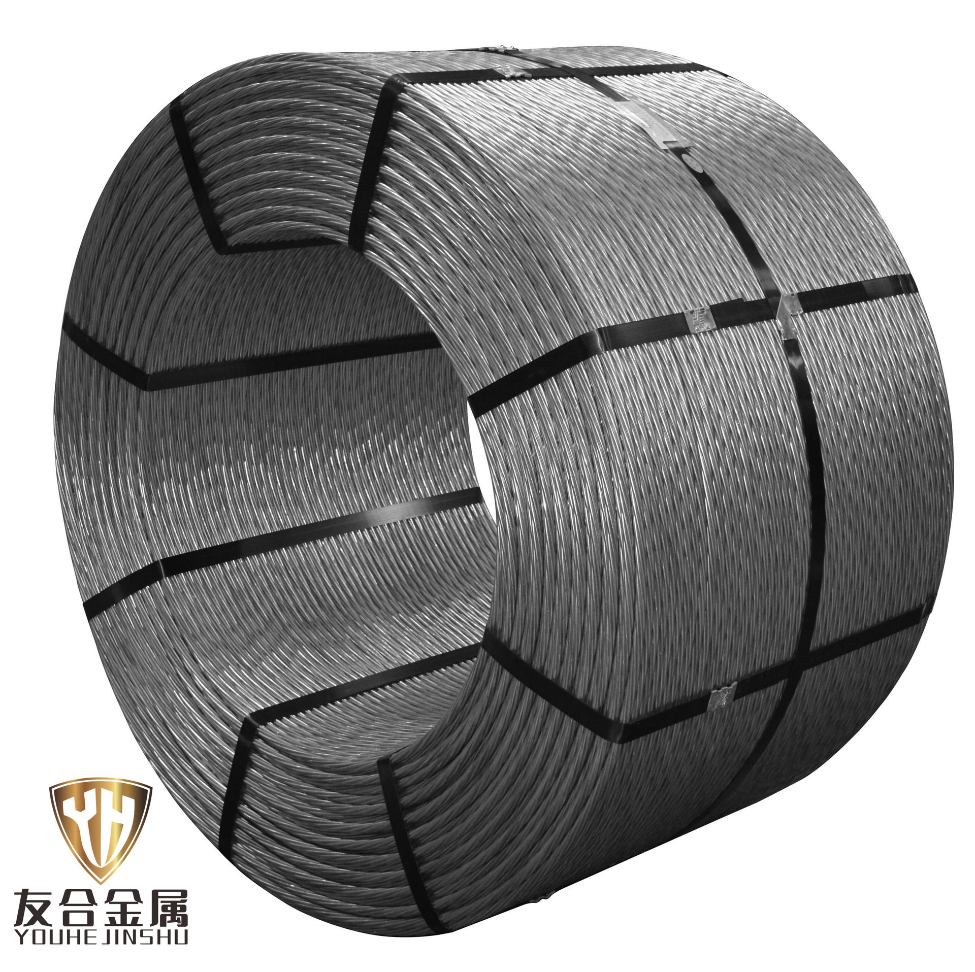YOUHE Tianjin prestressed steel strand manufacturer 15.2 mine anchor cable steel strand 1 * 7