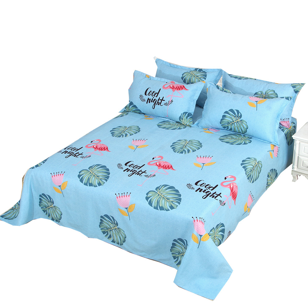 FEIERMEI Bed sheet dormitory bed single bed 1.2m 1.8m twill printing one piece set