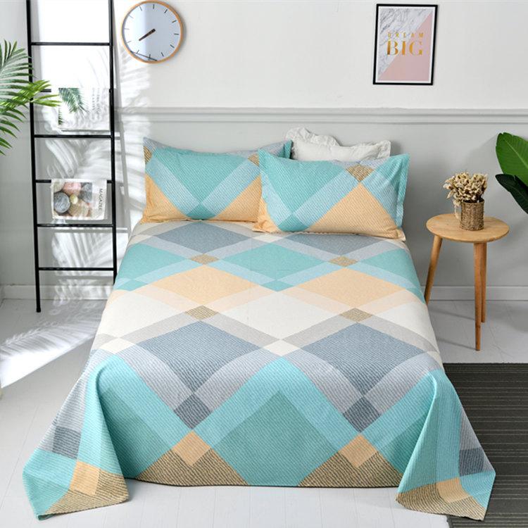 YISHENGJIA Summer cotton old coarse cloth three piece set 250x230 new cotton bed sheet pillow case m