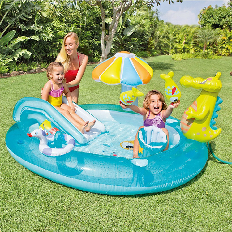 Intex 57165 Crocodile Park fountain swimming pool inflatable pool baby sand pool ocean ball pool