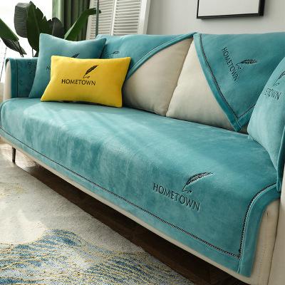 QISILOVE Vỏ bọc Sofa Bắc Âu Four Seasons Ghế sofa sang trọng Đệm Sofa Bao gồm Vải Swastika Bao bọc g