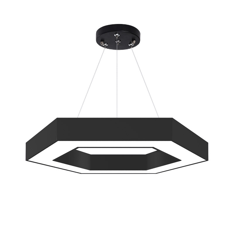led office lamp pendant lamp office lighting splicing Y-shaped triangle square round hexagon chandel