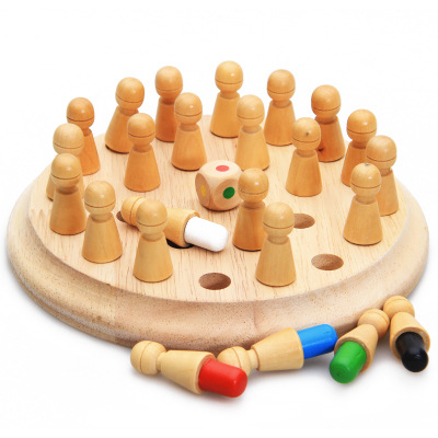 Wooden memory chess toys logical thinking training children's brain and intelligence development