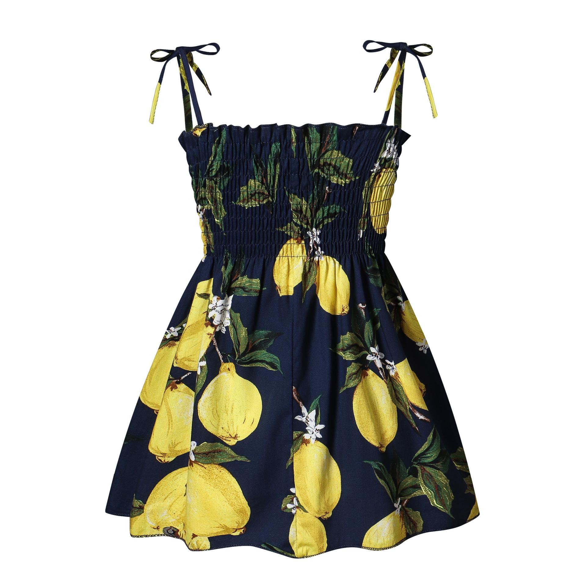 YINGLONG 2020 summer new beach children's princess dress girl's pure color lovely hemp SLING DRESS