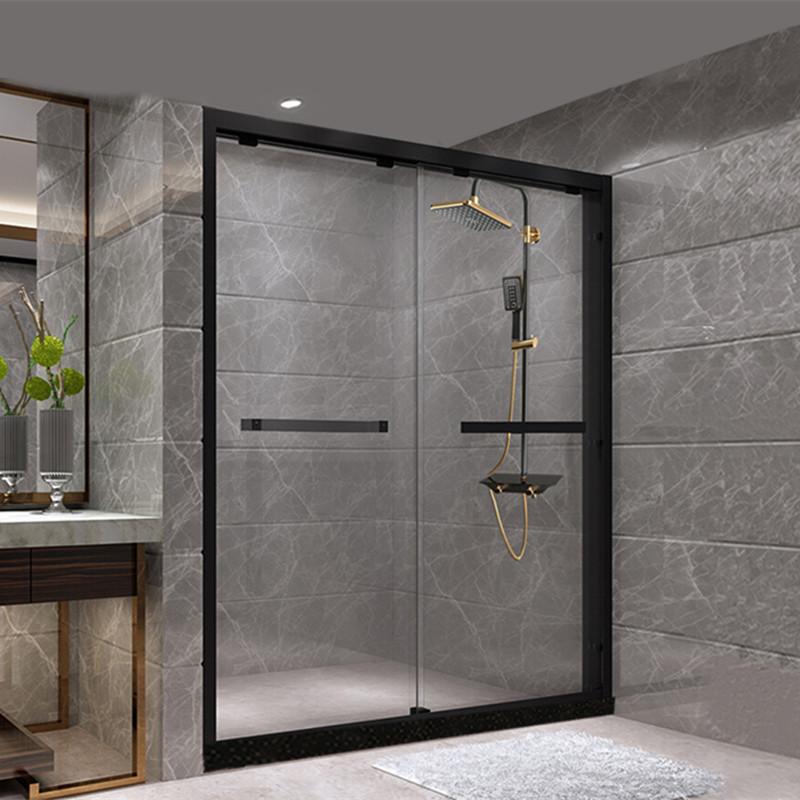 KASIDUN Net red sliding door shower room I-shaped partition integral bathroom tempered glass househo