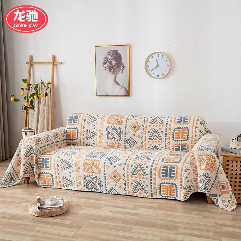 LONGCHI Gaoyang high grade anti slip sofa cushion European style home furnishing fabric winter sofa