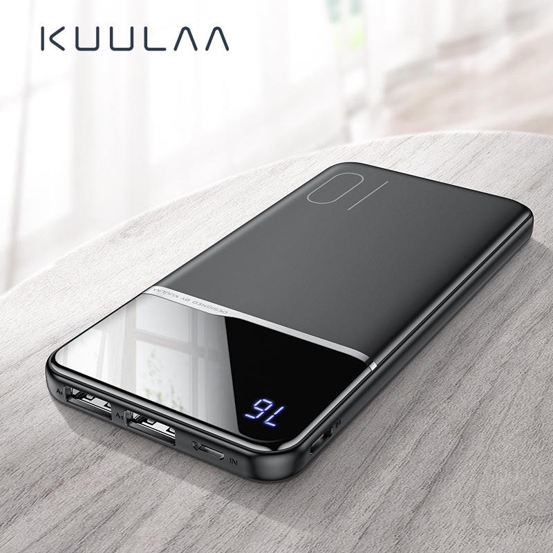 Kuulaa Ultra thin power bank 10000 Ma portable large capacity power bank digital display fast chargi