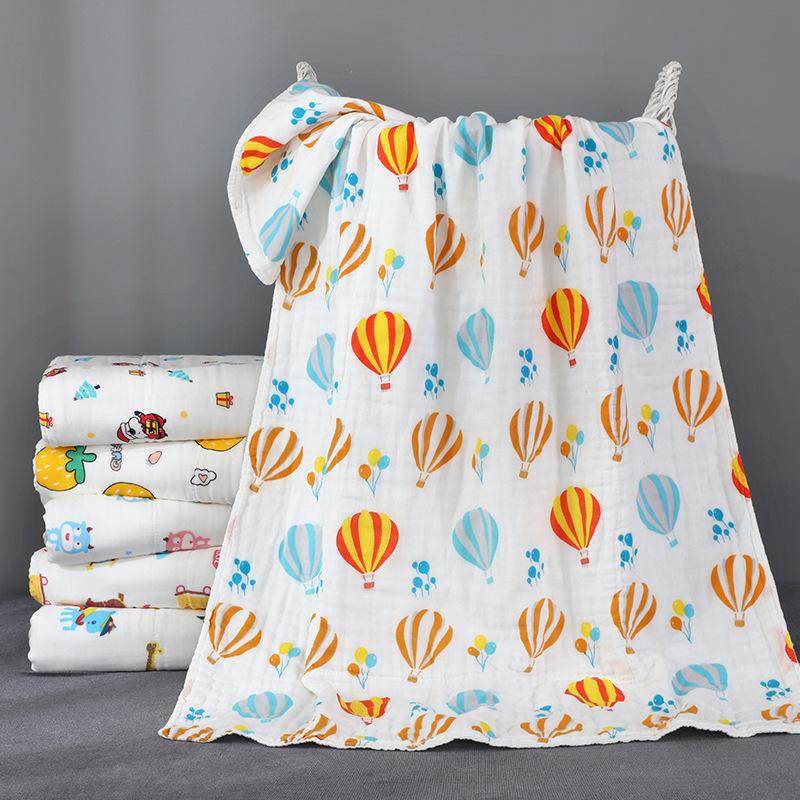 ZHENGZHIBAO Class a cotton baby bath towel 70 * 120cm cotton baby bath towel baby six layer gauze ca