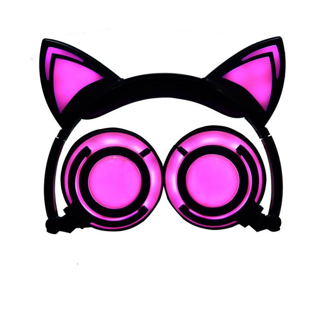 Tai nghe kiểu tai mèo màu dạ quang dành cho trẻ em .