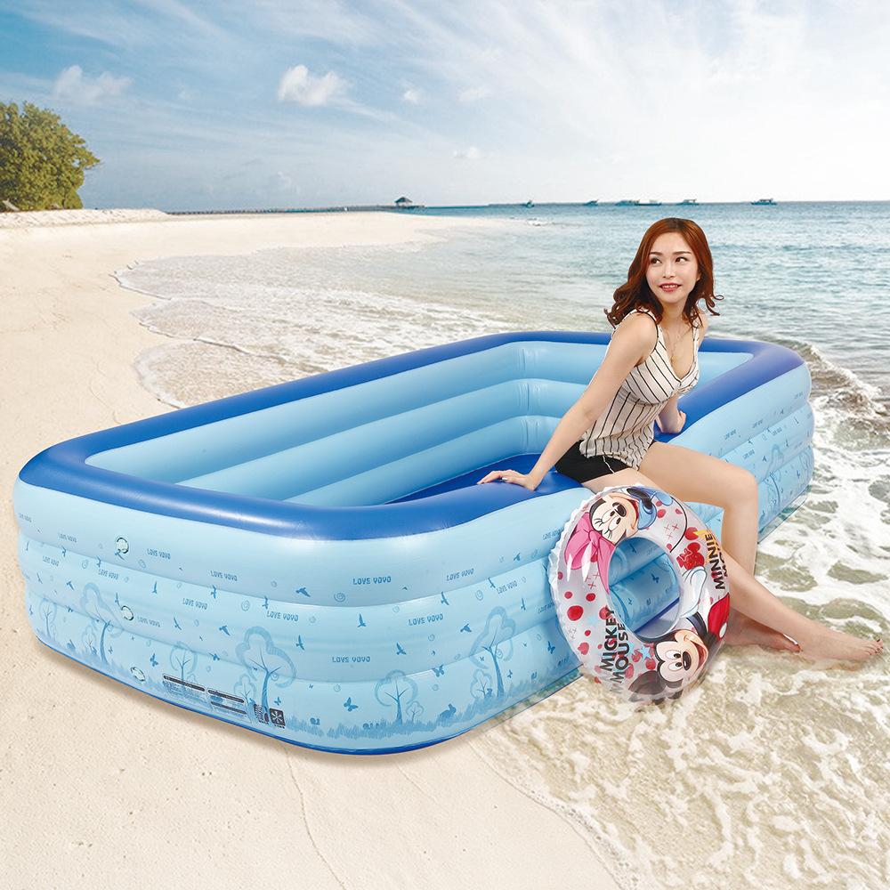 LEYOUYOU New rectangular children's inflatable pool baby inflatable swimming pool PVC swimming pool