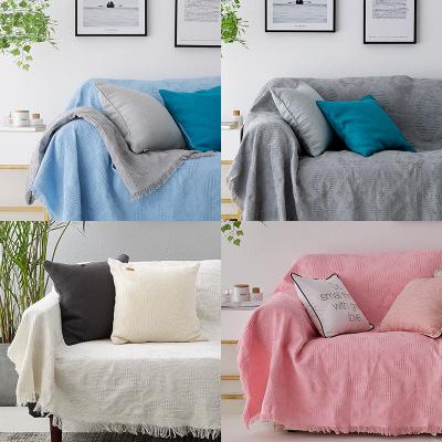 RAW HOUSE Đệm lót SoFa Vải bọc sofa màu trắng tinh khiết hai chỗ ngồi đệm sofa bọc sofa dày dệt kim