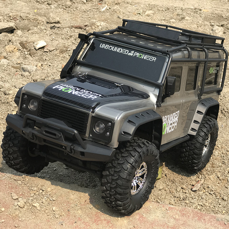 Huangbo 1:10 full scale four wheel drive climbing car large charging remote control off road vehicle