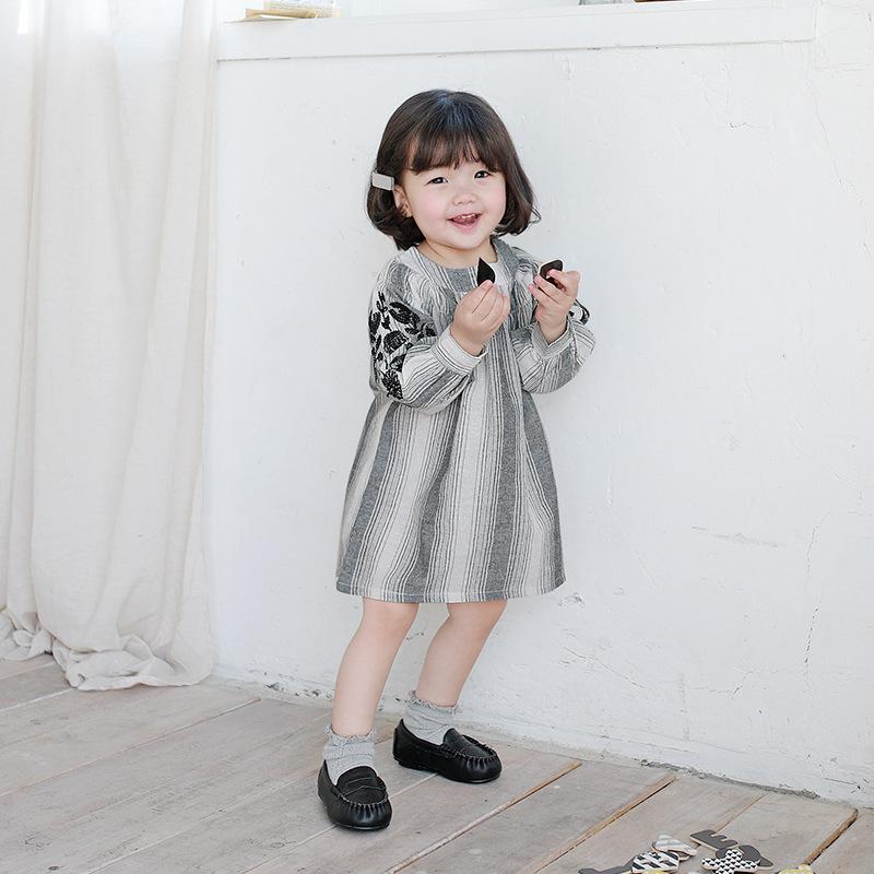 EDOOBE Children's 1398 Korean girls' dress children's spring children's embroidered skirt girl'