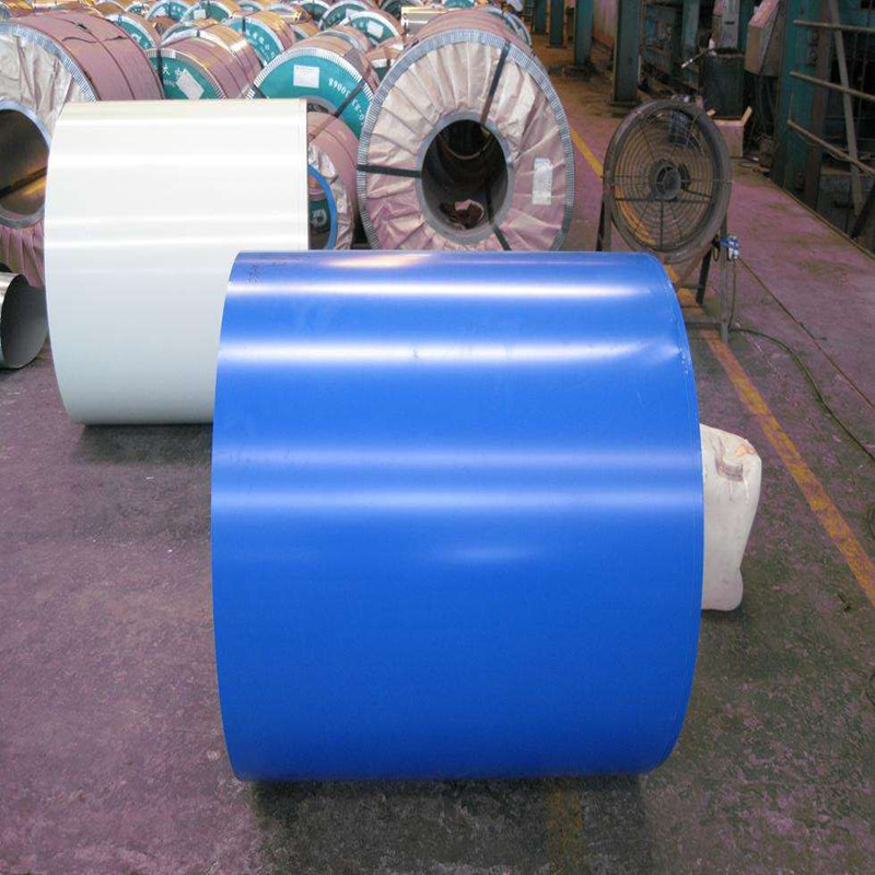 0.5mm color steel profiled plate sea blue color coated coil 900 color steel tile processing color st