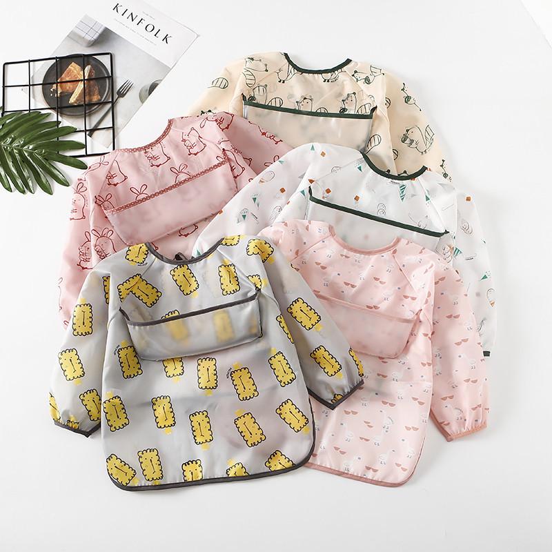 Umbrella children's Waterproof Bib long sleeve baby waterproof coverlet baby polyester taff waterpr