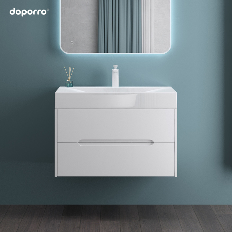 Doporro Nordic bathroom cabinet artificial stone wash basin cabinet combination toilet wash basin se