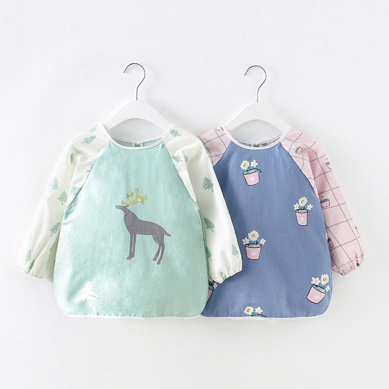 MAIDUOLA Pure cotton baby eating bag, children's apron, children's protective clothing, kindergart