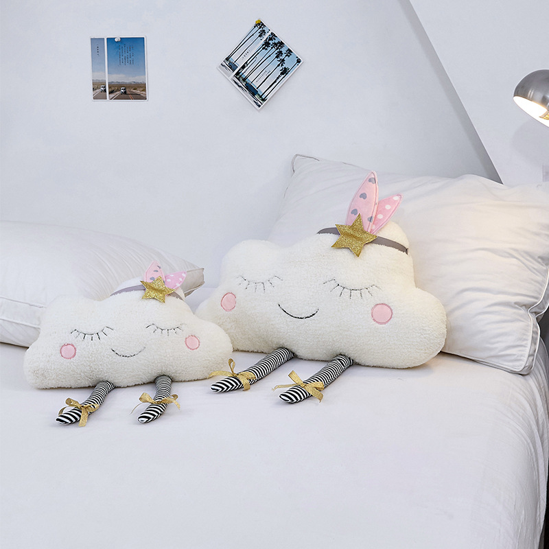 LONGTAI Cloud baby comfort pillow embroidery squint pillow sofa cushion bay window decoration childr