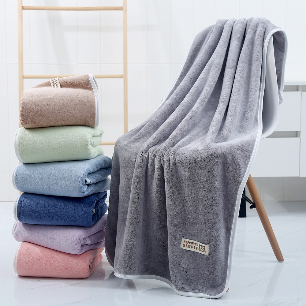 LOVEVITA Bath towel female coral velvet thickened adult absorbent household non pure cotton beach to