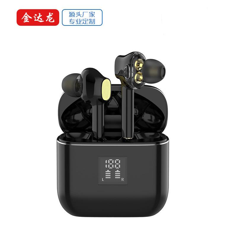 Tai nghe Bluetooth T07 loda loa siêu trầm động kép không dây