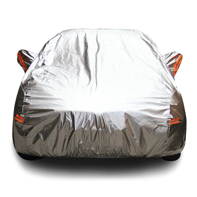 YUYIJING Aluminum film car clothing summer sunscreen car cover rainproof sunshade Oxford cloth thick
