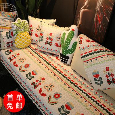 YISUYA Đệm lót SoFa Xưởng bán trực tiếp đệm bông ép bốn mùa tổng hợp đệm ghế sofa vải bông chống trư