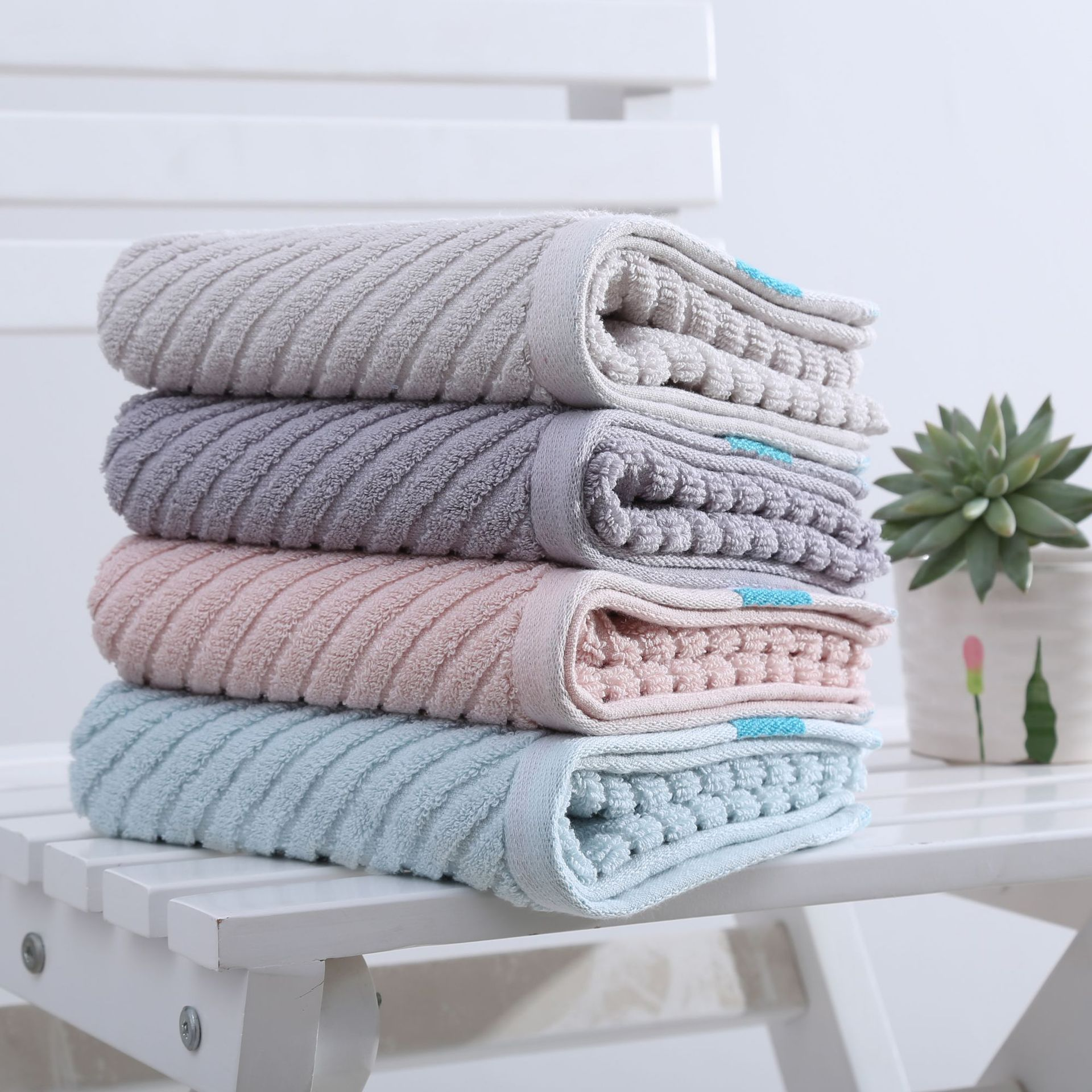 Adult household cotton face towel, plain face towel does not lose hair and absorb water