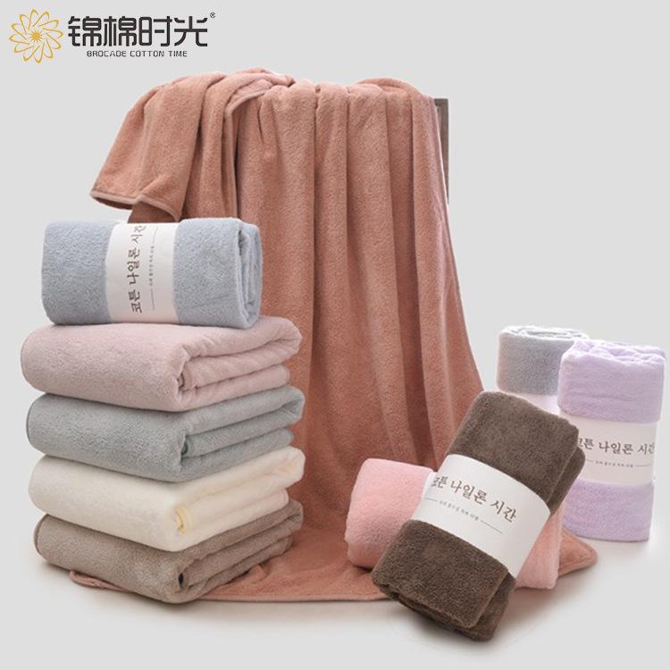 JMSG Thickened coral velvet bath towel female adult soft absorbent easy dry bra beach towel Hotel