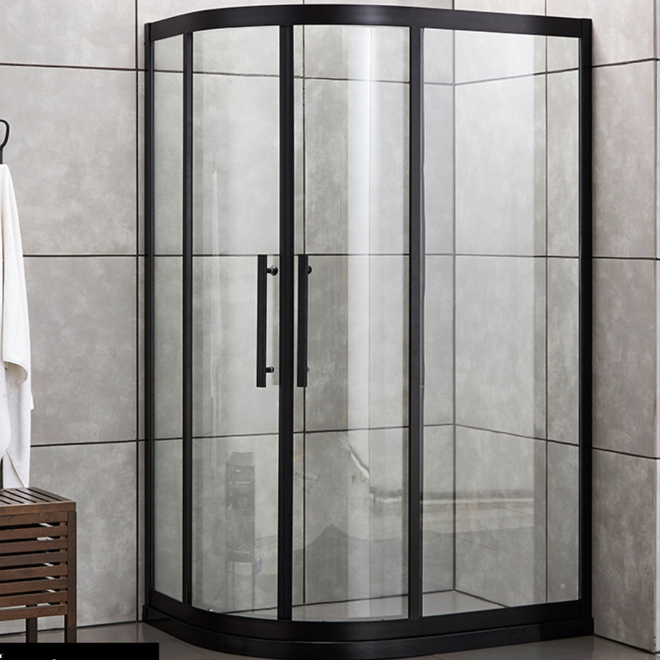 CHANGGU Shower room 304 stainless steel fan-shaped integral bathroom shower room partition screen of