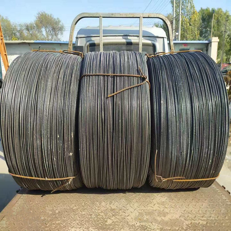 A3 cold drawn ribbed steel hot dip galvanized steel wire prestressed steel strand