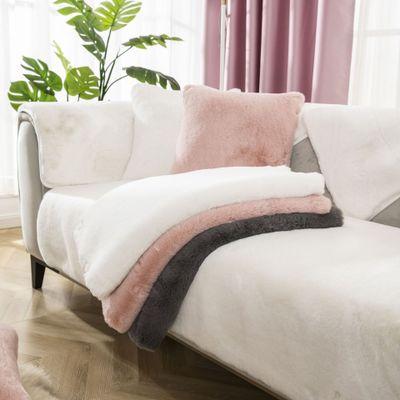 LLUQING Vỏ bọc Sofa Đệm sofa sang trọng Rabbit đệm dày sang trọng bọc ghế sofa cao cấp bao gồm tất c