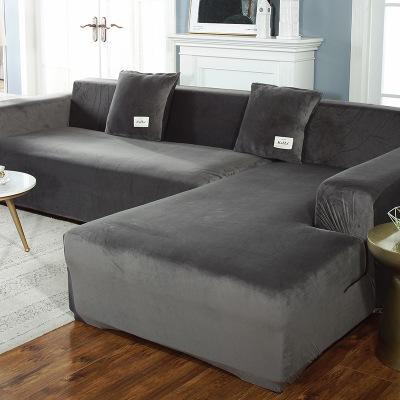 Vỏ bọc Sofa Vỏ bọc ghế sofa màu rắn sang trọng dày xuyên biên giới đàn hồi chống trượt đơn giản một