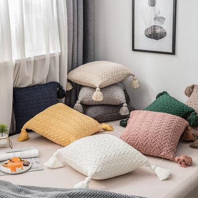 RUIJINA gối ôm Cùng một lớp vải dệt kim chenille gối đệm gối nhà trang trí nội thất phụ kiện mềm Nhà