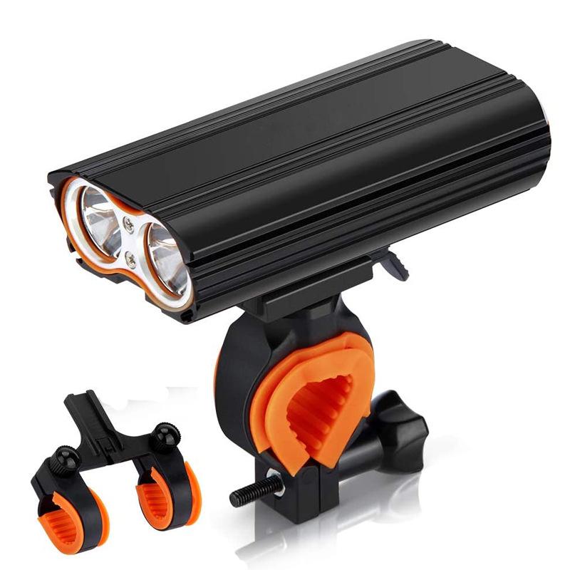 Đèn pha cho xe đạp T6 độ sáng cao sạc pin USB