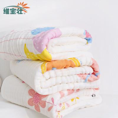 WEIBAOZHUANG Khăn tắm Weibaozhuang chín lớp gạc dày khăn tắm seersucker, giặt ở nhiệt độ cao, mềm mạ