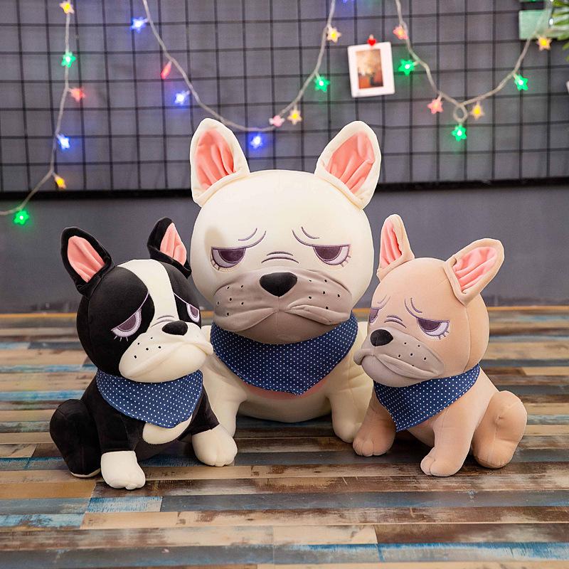Cute rich dog plush toy Bulldog doll dog doll children doll pillow activity gift