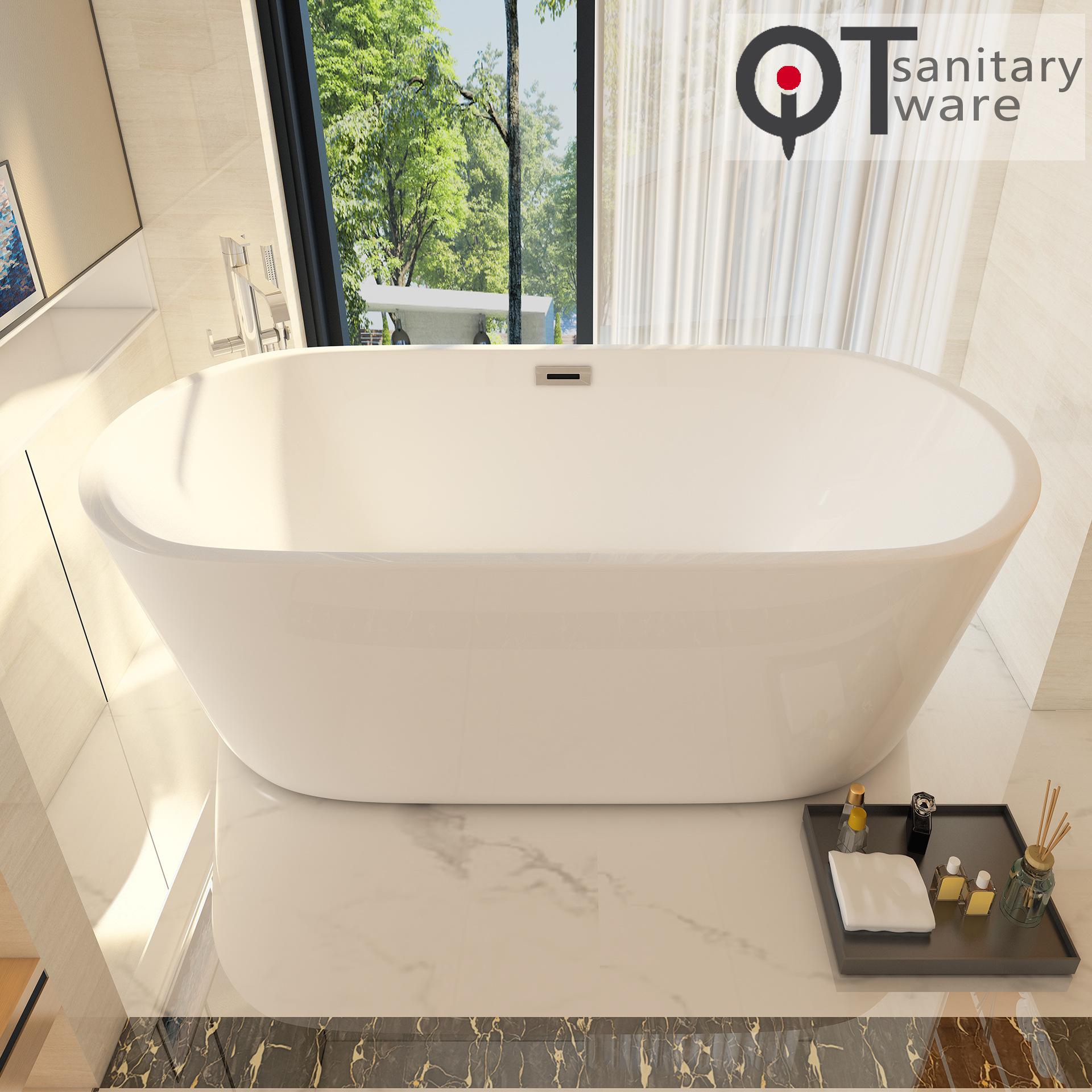 Bồn tắm acrylic hình bầu dục gia dụng 1,2 ~ 1,7m