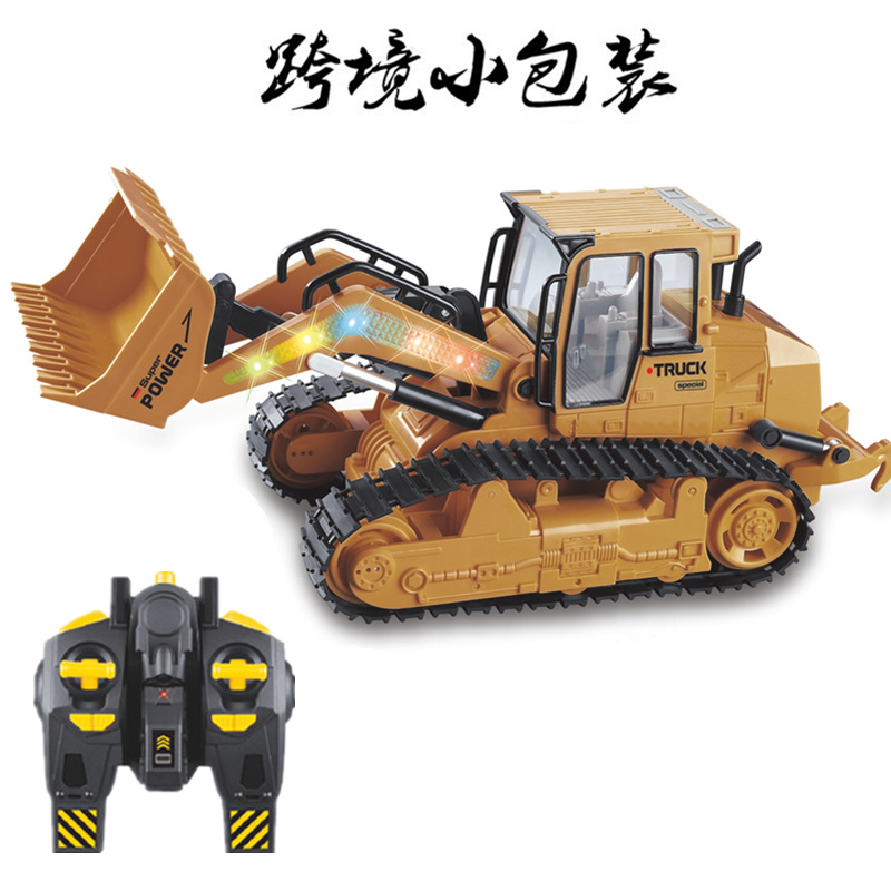 WANYITONG Large 2.4G remote control bulldozer excavator electric engineering vehicle children's toy