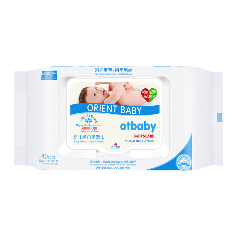 Otbaby baby wipes 80 suction cover baby wipes wholesale baby wipes
