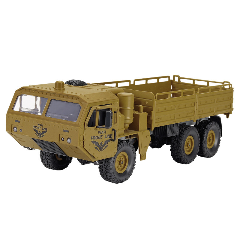 JJRIC 2.4g simulation of Sade six wheeled military remote control truck for outdoor off-road transpo