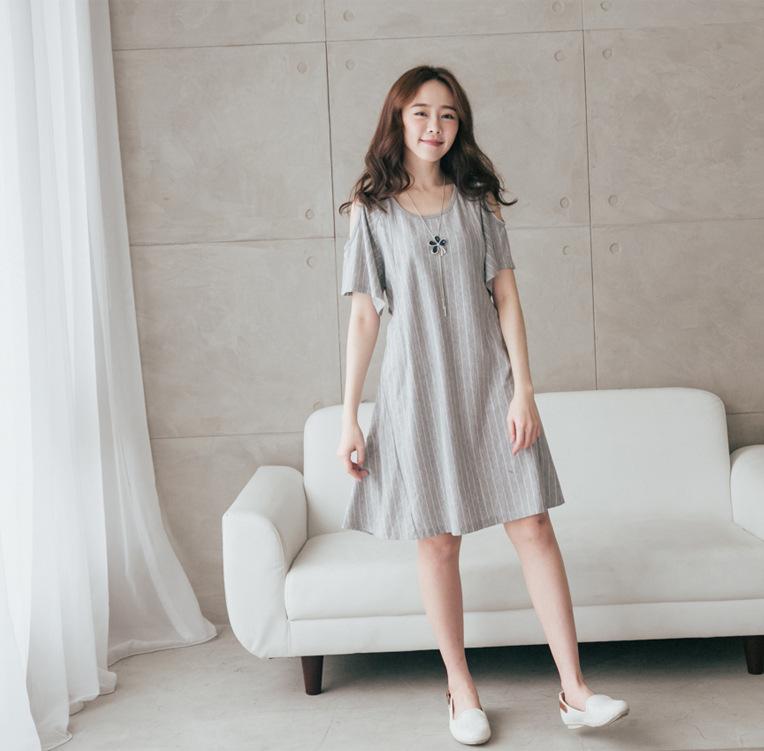 MMYN 2019 spring and summer pregnant women's dress Korean fashion medium length breast-feeding clot