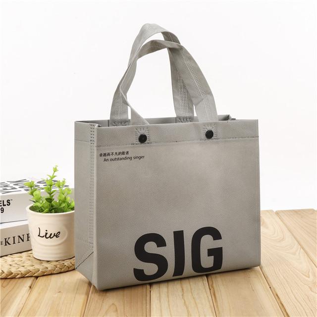 CHENGCAI Non-woven three-dimensional bag, portable environmental protection non-woven bag with buckl