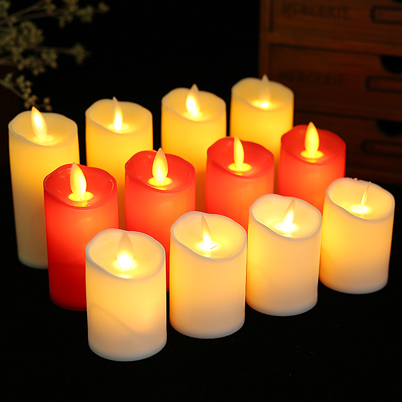 JIANGSEN Plastic LED Electronic Candle Swing Candle Light Tea Wax Chinese New Year Wedding New Year
