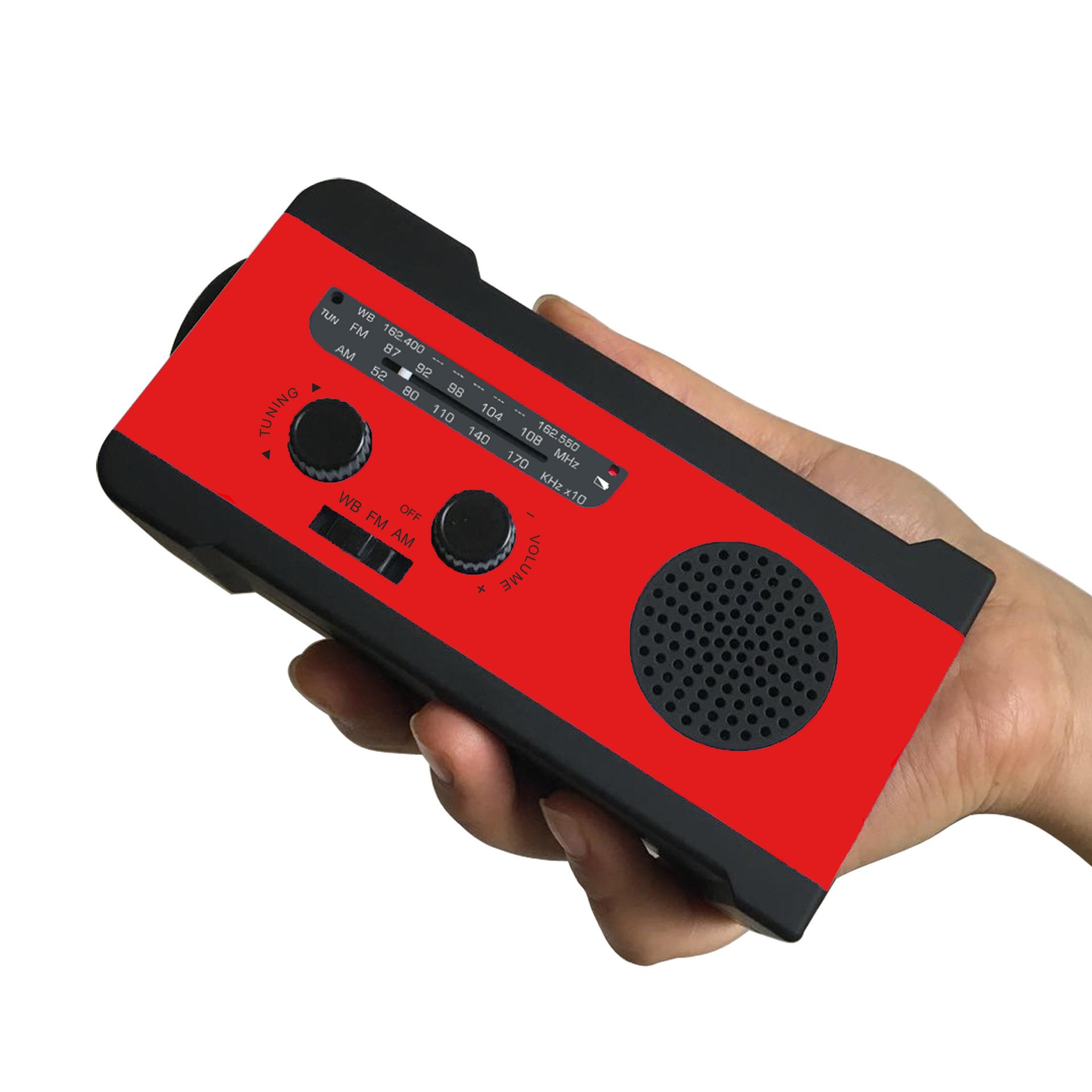 WAYHOOM Solar radio Hand crank SOS radio 2000mAh mobile phone emergency charging