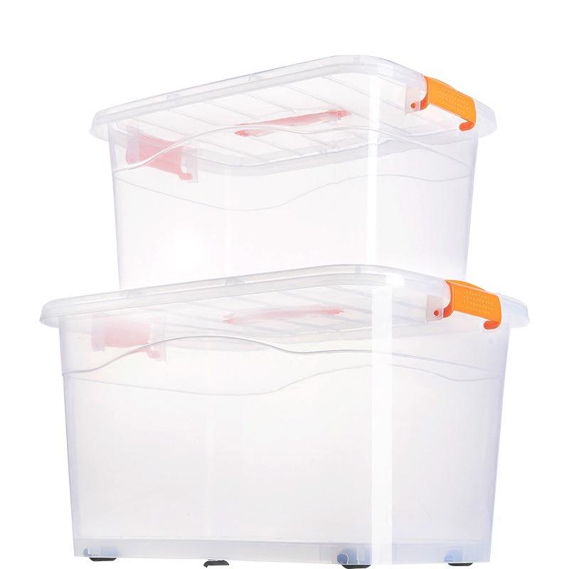 Extra large transparent storage box plastic clear storage box storage box with lid clothes box house
