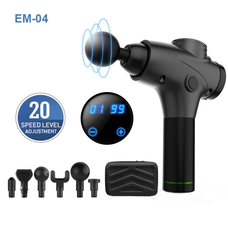 AIJIU Em04 electric fascia gun deep muscle relaxant fitness massager transmembrane gun massage gun