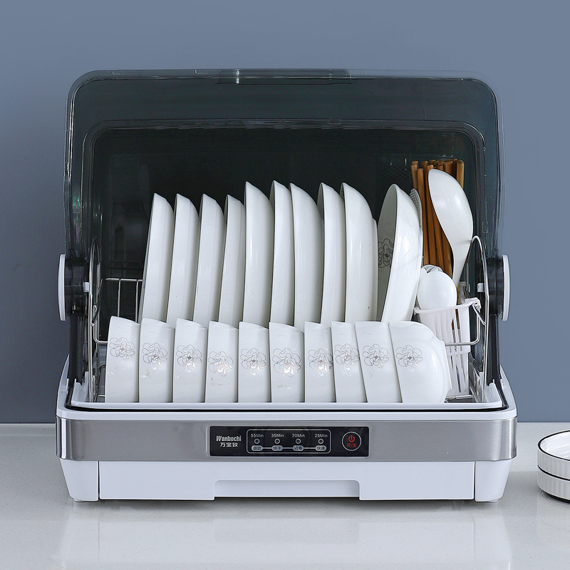 220V small household kitchen sterilization storage dishes cleaning high temperature drying tableware